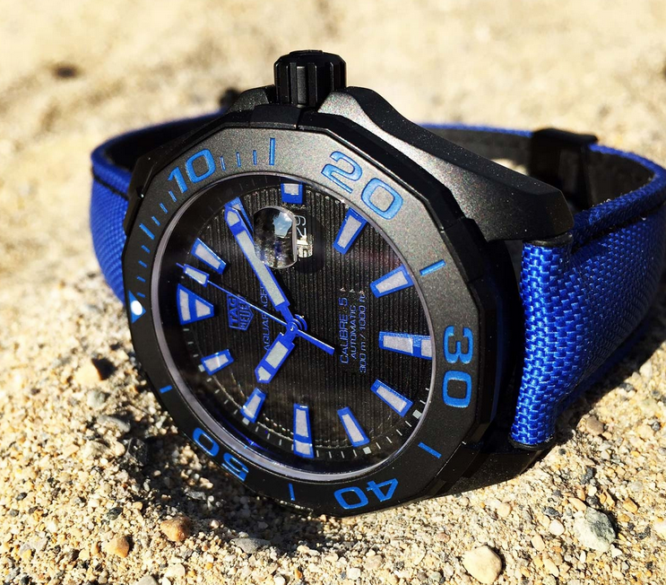 Blue Nylon Straps TAG Heuer Aquaracer 300M Copy Watches