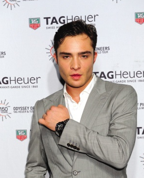 Ed Westwick Introduced Formal Black Dials TAG Heuer Carrera Fake Watches For Men