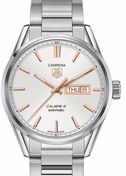 Silver Dials TAG Heuer Carrera Calibre 5 Automatic 41MM Replica Watches