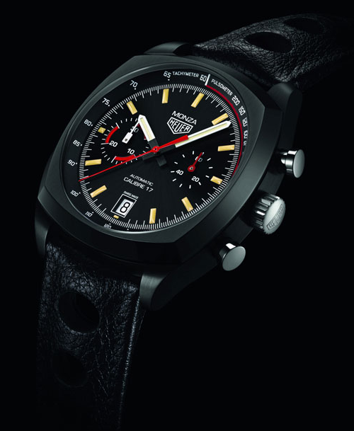 TAG Heuer Monza Fake Watches With Black Titanium Cases Sale