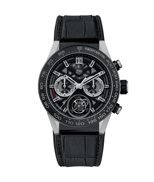 Titanium Cases TAG Heuer Carrera Calibre Heuer 02 T Automatic Chronograph CAR5A8Y.FC6377 Fake Watches For 2017 New Year