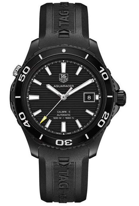 Yang Yang Likes Sporty Black Titanium Bezels TAG Heuer Aquaracer 500M Fake Watches
